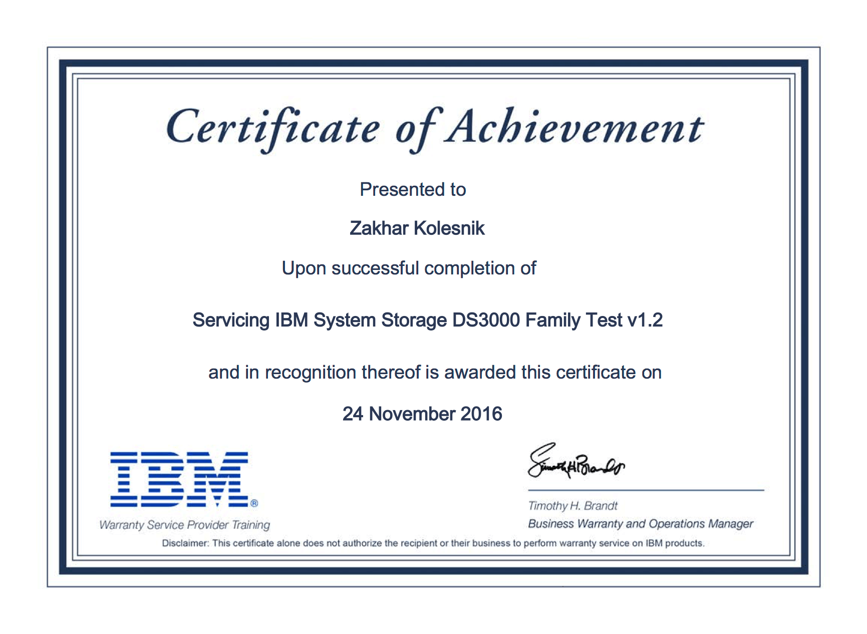 IBM: Servicing IBM System Storage DS3000